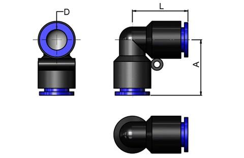 Plastic Elbow Connector 10MM Tube (SF-15060)