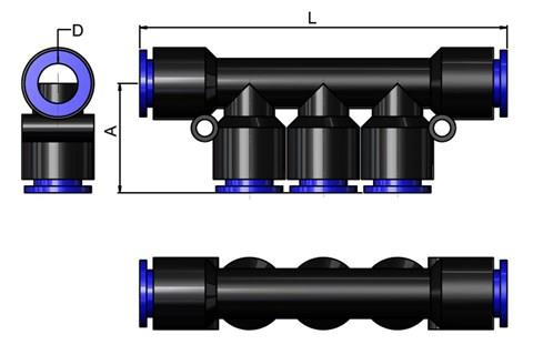 5 Way Connector 10MM Tube (SF-15060)