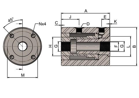 Double Acting Hollow Cylinders (SF-3421)