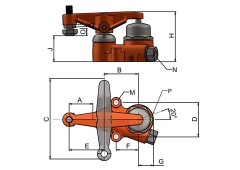 PowRlock Hydraulic Swing Clamps - 15kN Clamping Force (SF-5900)