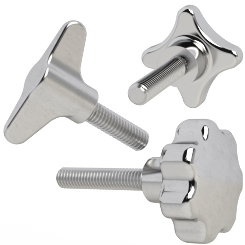 316 Stainless Steel Threaded Hand Knobs